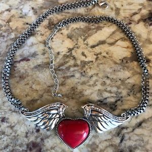 Jewelry - NWOT❤️ Heart with wings necklace ❤️